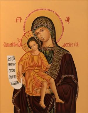 Топоркова К. Ікона Божої матері, 2017