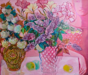 O. Kondratiuk. Bouquets. Diptych, 2016, oil on canvas