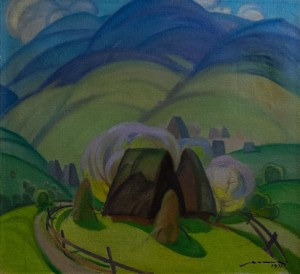 'Старі хати', 1971, 94х91