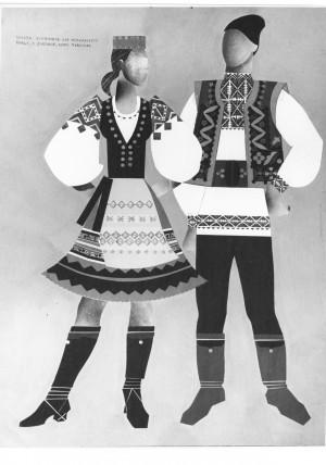 ескізи костюмів для молдавського танцю, 1973