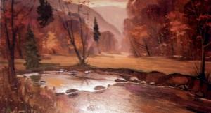 Осінь над потоком, 2004, п.о., 70х80