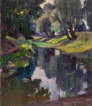 Forest Lake, 1972, oil on canvas, 70x60