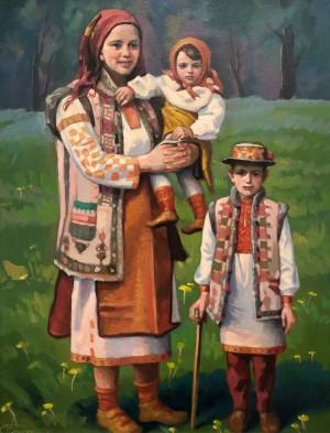 'Родина. Троє', 2015, к.о., 65х50