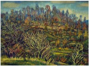 Закарпатська осінь,1980 р. п.о. 72x91 (Знаходиться в колекції галереї Арт-стиль)