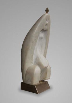 Біла королева, 2012, мармур, бронза, 32х16х12