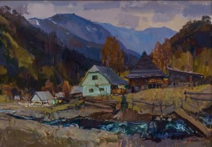 A. Kovach  Autumn motive in Synevyr lake, 2016