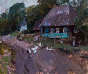 Криушин А., Стара хата, 2017, п. о., 50х60