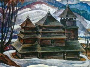 Микита В. Костринська церква, 1978, п.о., 65х85