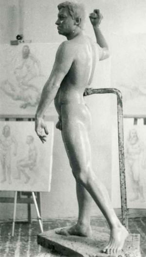 Курсова постановка, чоловіча фігура, 1985