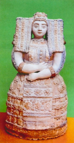 Interested terracotta, stone 6,3х3х2,8