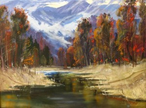 Autumn In The Carpathians, 2010, oil on canvas, 70x100