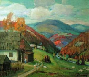 Стара хата в селі Дубриничі, 1996, 70х80