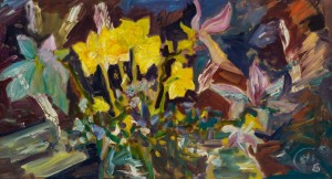 Y.Yehorova-Rohova. Magnolias and narcissus