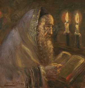 Learning The Torah By Candlelight, 1927