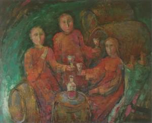 Червоне вино, 2003, п.о., 90х120
