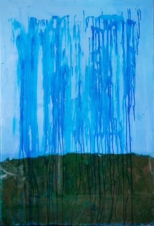 Rain, 2017, скло, акр., 100х150