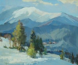Winter Day', 2017, oil on canvas, 60x70