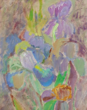 'Petals Of Irises (Ephemeral World)', 2017, oil on paper
