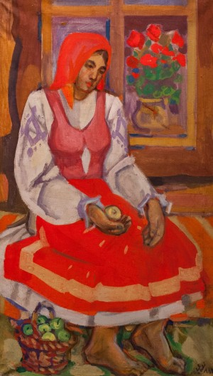 'A Bride', 2005, tempera on canvas, 78x45