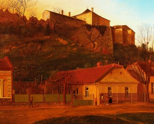 Uzhhorod Castle, 1992, oil on canvas, 110x136