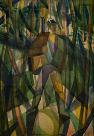 'Hunter', 1970, watercolour on paper