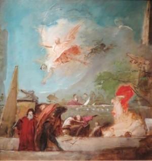 Ескіз розпису стелі Музею мистецтв у Відні Апофеоз Відродження.