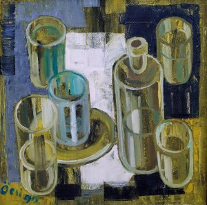 F. Seman, Glass still life, 1992