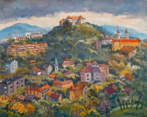 Uzhhorod Castle, 2017, oil on canvas, 80х100