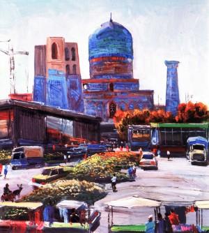 Самарканд, 1984, кар.о., 75х65