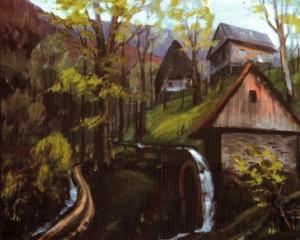 Старий водяний млин (музей) с. Нижній Бистрий, 1990, 60х70