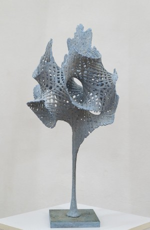 "V. Sochka ""Honeycombs"", 2017, mixed technique on concrete, 67х36х36"