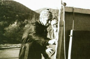 Yu. Herts and A. Rachko are painting, 1985