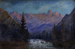 'River In The Tatras Mountains', 1935, oil on canvas, 70x106.jpg