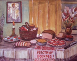 Пасхальний натюрморт, 2005, п.о., 70х80