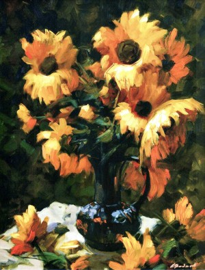 Sunflowers, 2010, 90x70