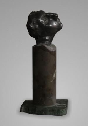 Елеонора, 2001, олово, мармур, 23х9х8
