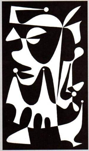 Гномик, 1999, аплікація, папір, 25х12