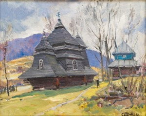 Uzhok Church, 2016, oil on canvas, 65x80