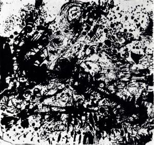 D - 2, 1964, litografia, 16,5X17
