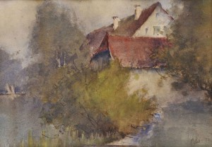 'Solitude Near Water', 1935, watercolour on paper, 28x40.jpg