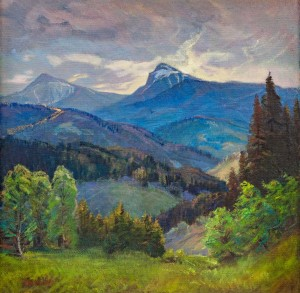 V. Brenzovych 'Petros Mountain. Hoverla Mountan', 2018