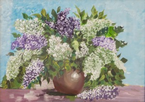 'Lilac' The work of a student of the art school 'Rom Art'