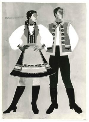 Ескізи костюмів , 1974