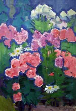 Flowers, oil on canvas, the second half of the 20th century, 99x69