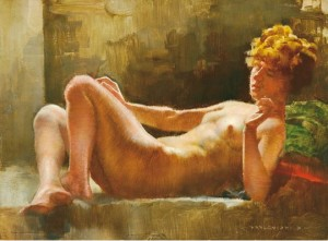 Nude Woman, oil on wood, 19x24,5