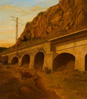 Overpass In The Carpathians, 1989, oil on canvas, 95x83