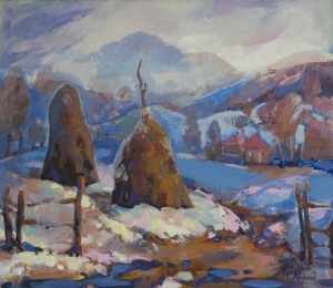 S. Kyrlyk Winter in Zhornava Village , 2014, acrylic on canvas, 60x70