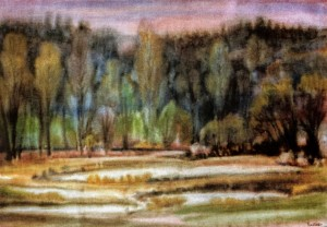 Transparent Spring Dawn, 1995, fabriano, watercolour, 53x75