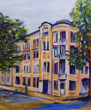 N.Rybar. Apartment House By The project Of F. Kuner, 2017, canvas, oil, 50x60