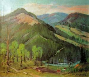 Ужоцький перевал влітку, 2001, 70х80